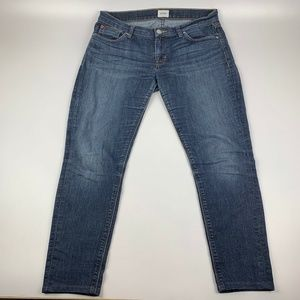 "Hudson Size 29 Cropped Jeans Medium Wash 25"" L"